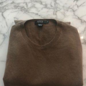 J Crew 100% Italian cashmere crew neck sweater XL